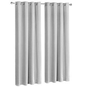 CURTAIN 300 LG X2 00 300x300 - Art Queen 2 Panel 300 x 230cm Eyelet Block Out Curtains - Light Grey
