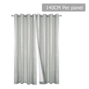 CURTAIN CT ECRU 140 00 300x300 - Art Queen 2 Panel 140 x 230cm Eyelet Blockout Curtains - Ecru