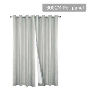 CURTAIN CT ECRU 300 00 300x300 - Art Queen 2 Panel 300 x 230cm Eyelet Blockout Curtains - Ecru