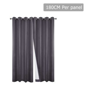 CURTAIN CT GY 180 00 300x300 - Art Queen 2 Panel 180 x 230cm Eyelet Blockout Curtains - Grey