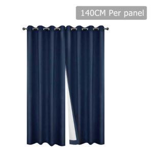 CURTAIN CT NAVY 140 00 300x300 - Art Queen 2 Panel 140 x 230cm Eyelet Blockout Curtains - Navy