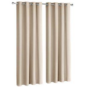 CURTAIN D213X140 LATTE 00 300x300 - Art Queen 2 Panel 140 x 213cm Block Out Curtains - Latte