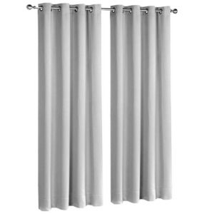 CURTAIN D213X140 LG 00 300x300 - Art Queen 2 Panel 140 x 213cm Block Out Curtains - Light Grey