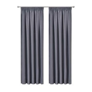 CURTAIN HOOK D230X240 DG 00 300x300 - Art Queen 2 Pencil Pleat 240x230cm Blockout Curtains - Dark Grey
