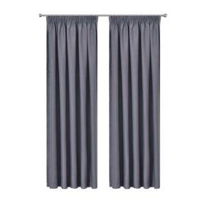CURTAIN HOOK D230X300 DG 00 300x300 - Art Queen 2 Pencil Pleat 300x230cm Blockout Curtains - Dark Grey