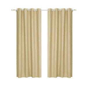 curtain star d180x180 lt 00 300x300 - Art Queen 2 Star Blockout 180x180cm Blackout Curtains - Latte
