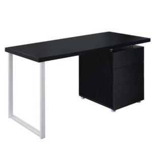 DESK 140M BK AB 00 5 300x300 - Artiss Metal Desk with 3 Drawers - Black