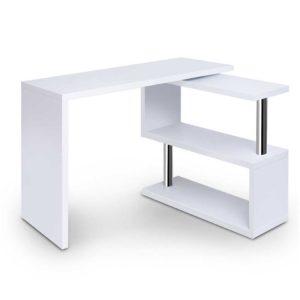 desk swivel 352wh ab 00 300x300 - Artiss Rotary Corner Desk with Bookshelf - White