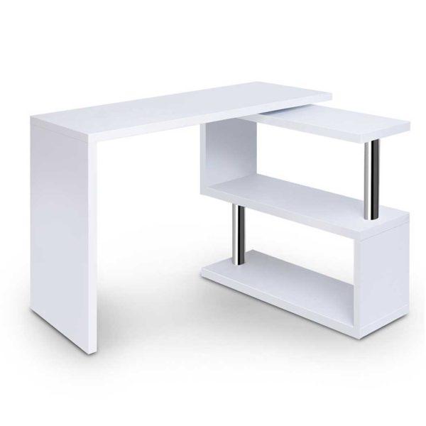 desk swivel 352wh ab 00 600x600 - Artiss Rotary Corner Desk with Bookshelf - White