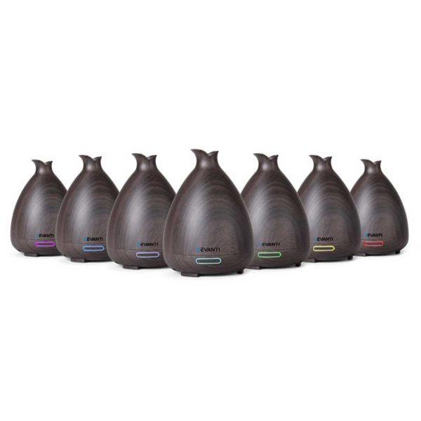 diff 158 dw 00 600x600 - DEVANTI Aroma Diffuser Air Humidifier Dark Wood Grain 120ml