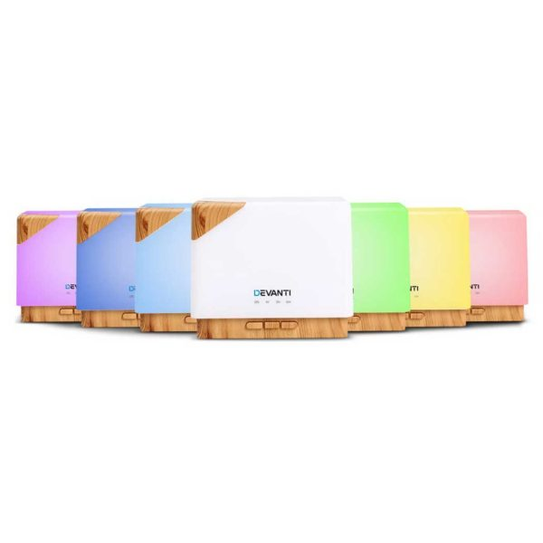 diff 166 lw 00 600x600 - DEVANTi Aroma Diffuser Air Humidifier Night Light 600ml