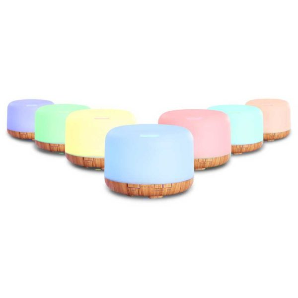 DIFF 202LW LW 00 600x600 - DEVANTI Aroma Diffuser Aromatherapy LED Night Light Air Humidifier Purifier Light Wood Grain 500ml