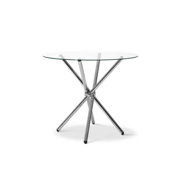 DINING B T04 TP 00 600x600 - Artiss Round Dining Table with Tempered Glass - Silver