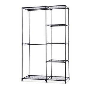 DIY CR 802 BK 00 300x300 - Portable Closet Organizer Storage Clothes Hanger Rail Garment Shelf Rack Black