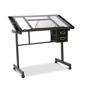 DRAW DESK 03 SI 00 300x300 - Artiss Adjustable Drawing Desk - Black and Grey