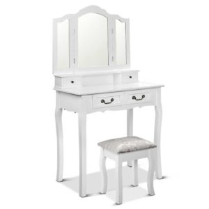 dress c 3mir 4d wh 00 300x300 - Artiss Dressing Table with Mirror - White