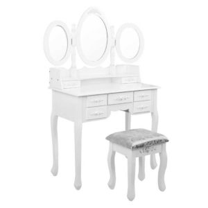 dress tab 7d ab 00 300x300 - Artiss 7 Drawer Dressing Table with Mirror - White