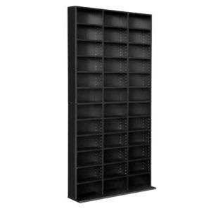 d shelf bl ab 00 300x300 - Artiss Adjustable Book Storage Shelf Rack Unit - Black