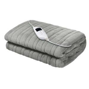 EB THROW RUG SR 00 300x300 - Giselle Bedding Heated Electric Throw Rug Fleece Sunggle Blanket Washable Silver