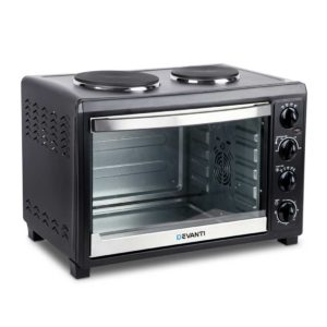 eco dhp 45l bk 00 300x300 - Devanti 45L Convection Oven with Hotplates - Black