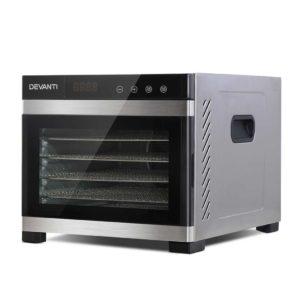 FD E 306 SS 00 300x300 - DEVANTi 6 Trays Commercial Food Dehydrator Stainless Steel Fruit Dryer