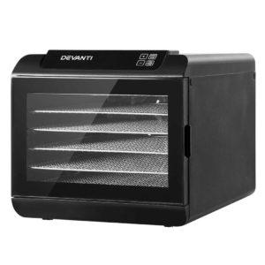 FD E 363 ST BK 00 300x300 - Devanti 6 Tray Food Dehydrators Commercial Beef Jerky Maker Fruit Dryer Black