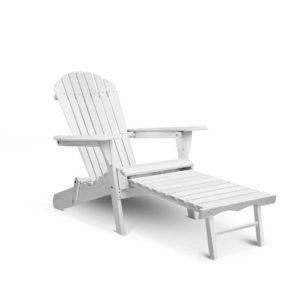 FF BEACH NTLCHOTTO WH 00 300x300 - Gardeon Adirondack Beach Chair with Ottoman - White