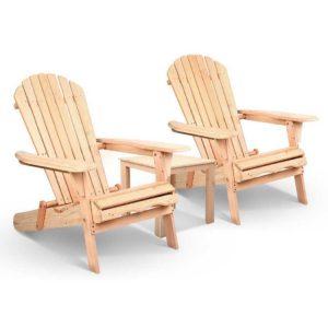 ff beach set 3ntl 00 300x300 - Gardeon 3 Piece Wooden Outdoor Beach Chair and Table Set