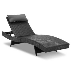 FF LOUNGE WA BK 00 300x300 - Gardeon Outdoor Wicker Sun Lounge - Black