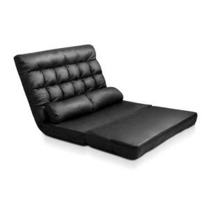 FLOOR SBL 170PU BK 00 300x300 - Artiss 2-seater Adjustable Lounge Sofa - Black