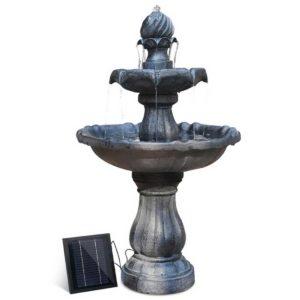 FOUNT 3LVL BK 00 300x300 - Gardeon 3 Tier Solar Powered Water Fountain - Black