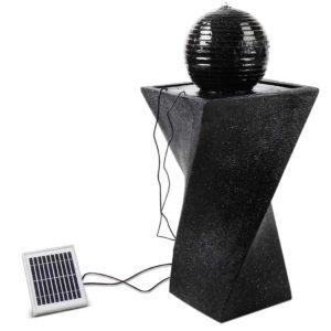 FOUNT MOON BK 00 300x300 - Gardeon Solar Powered Water Fountain Twist Design with Lights