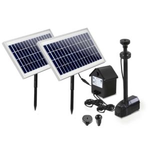 FOUNT POND B 200 DX1600 00 300x300 - Gardeon 110W LED Lights Solar Fountain with Battery Outdoor Fountains Submersible Water Pump