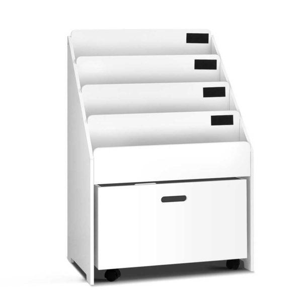 FUNKI BC1 WH 00 600x600 - Artiss Kids Wooden Bookshelf - White
