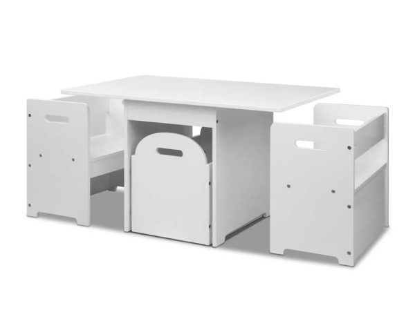 FUNKI RUDY WH 00 600x462 - Artiss Kids Table and Chair Set - White