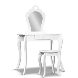 FURNI G 054 KDT WH 00 300x300 - Artiss Kids Vanity Dressing Table Stool Set Mirror Drawer Children Makeup White