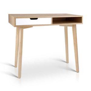 FURNI G DESK 1116 WD 00 300x300 - Artiss 2 Drawer Wood Computer Desk