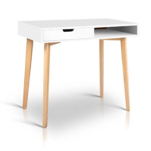 FURNI G DESK 1600 WH WD 00 300x300 - Artiss Wood Computer Desk with Drawers - White