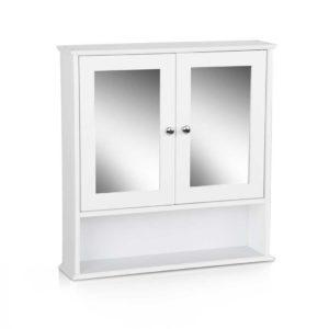 FURNI G MC127 WH 00 300x300 - Artiss Bathroom Tallboy Storage Cabinet with Mirror - White