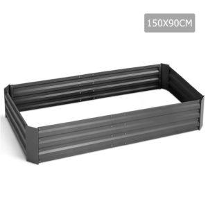 garden 15090 alumgr 00 300x300 - Green Fingers 150 x 90cm Galvanised Steel Garden Bed - Aliminium Grey