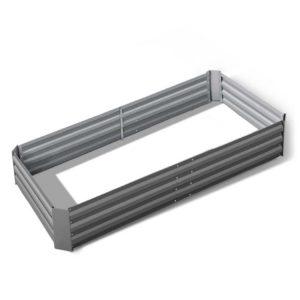 GARDEN 21090 ALUMGR 00 300x300 - Greenfingers Galvanised Steel Raised Garden Bed Instant Planter 210 x 90 Aluminium