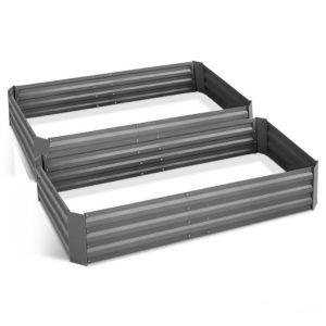 GARDEN ALUMGR 21 FC2 00 300x300 - Green Fingers Set of 2 210cm x 90cm Raised Garden Bed - Aluminium Grey