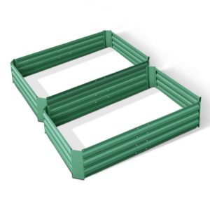 GARDEN GREEN 12 FC2 00 300x300 - Green Fingers Set of 2 120 x 90cm Raised Garden Bed - Green