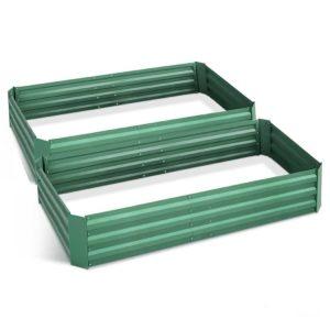 GARDEN GREEN FC2 00 1 300x300 - Greenfingers 2x Galvanised Steel Raised Garden Bed Instant Planter Green 150cmx90cm