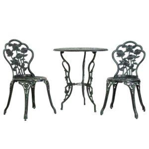 GB CALU 3PC XG1015 GN 00 300x300 - Gardeon Outdoor Furniture Chairs Table 3pc Aluminium Bistro Green