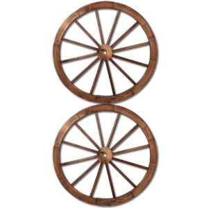 GD WHEEL 2X CC 00 300x300 - Gardeon Wooden Wagon Wheel X2