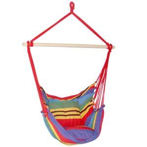 HM CHAIR PILLOW RAINBOW 00 300x300 - Gardeon Hammock Swing Chair with Cushion - Multi-colour