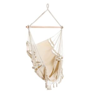 HM CHAIR TASSEL CREAM 00 300x300 - Gardeon Hammock Swing Chair - Cream