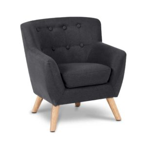 KID CHAIR A5 BK 00 300x300 - Artiss Kids Fabric Accent Armchair - Black
