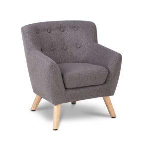 KID CHAIR A5 GY 00 300x300 - Artiss Kids Fabric Accent Armchair - Grey